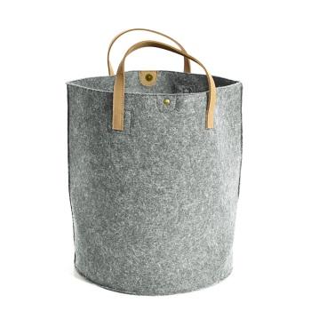 Tweedmill Felt Storage Basket - Silver Grey