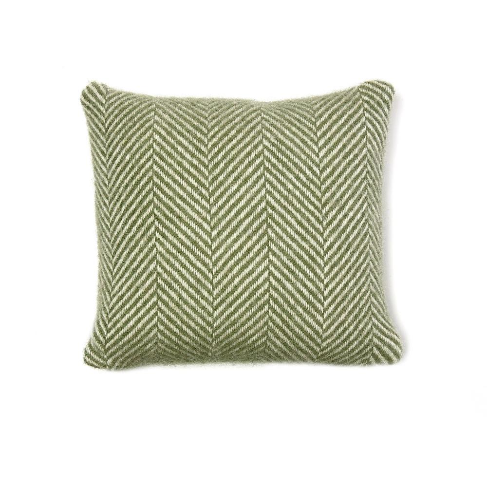 Tweedmill Wool Cushion - Olive