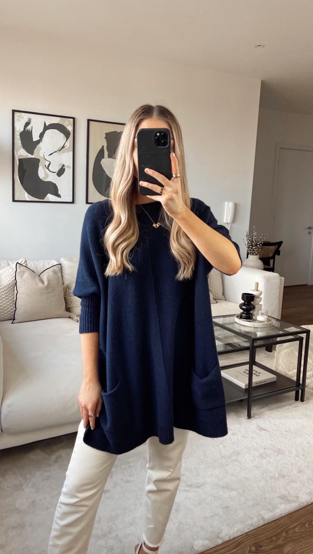 Kayla Poncho - Navy