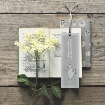 East of India Bookmark - Running Hare