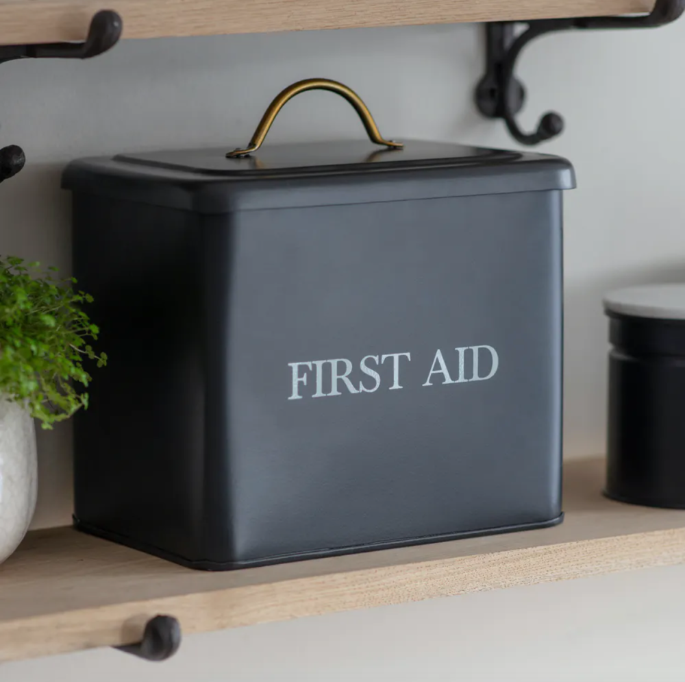 Garden Trading Vintage Style First Aid Box - Carbon