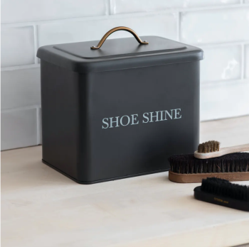 Garden Trading Vintage Style Shoe Shine Box - Carbon