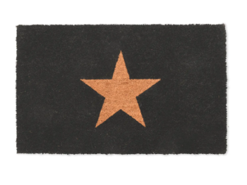 Garden Trading Coir Star Doormat - Charcoal Small