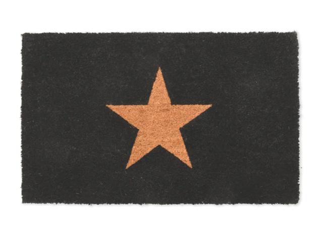 Garden Trading Coir Star Doormat - Charcoal Small