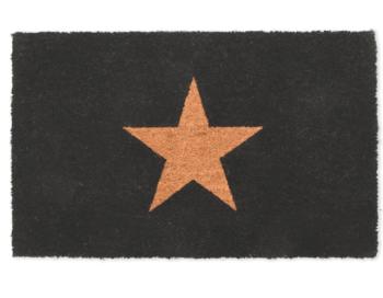Garden Trading Coir Star Doormat - Charcoal Large
