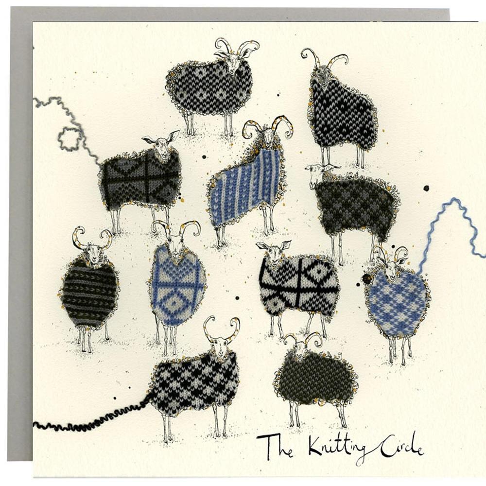 Anna Wright Card - Knitting Circle