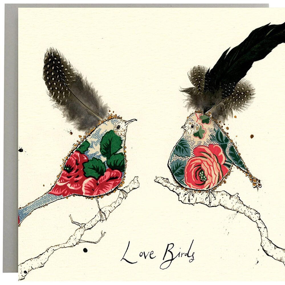 Anna Wright Card - Love Birds