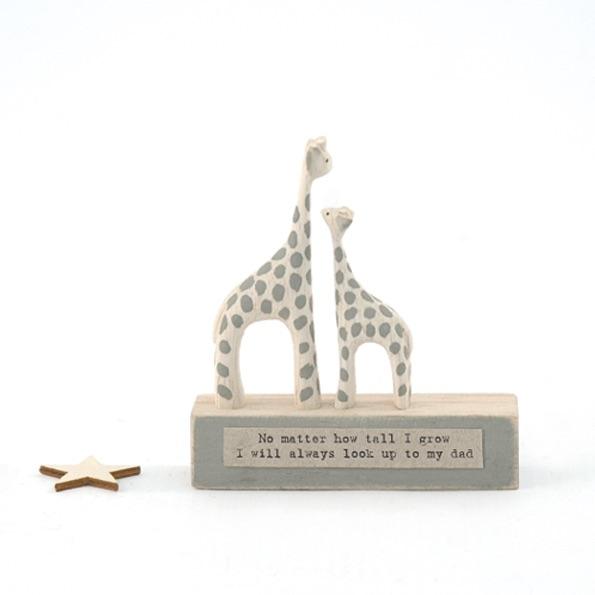 East of India Wood Scene - Giraffes/No matter how tall