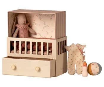 Maileg Baby Room with Micro Bunny & Accessories