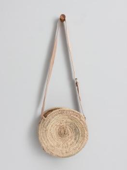 The Mykonos Crossbody Basket Round Bag