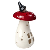 Naasgransgarden Gnome on Mushroom Christmas Lantern 14cm
