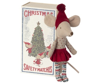 Maileg Christmas Mouse In Matchbox - Big Sister 2021