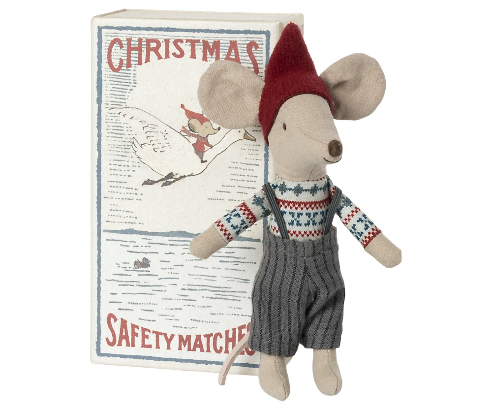 Maileg Christmas Mouse In Matchbox - Big Brother 2021