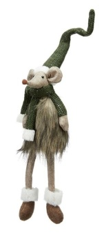 Christmas Ziggy Mouse Tomte Green - with legs