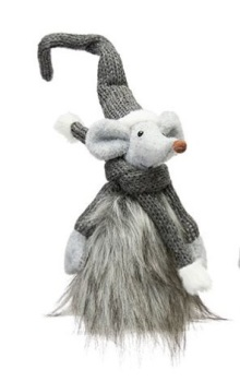 Christmas Ziggy Mouse Tomte Grey - with legs