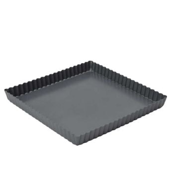 "Dexam Square Flan Pan Loose Bottom 23cm 9"""