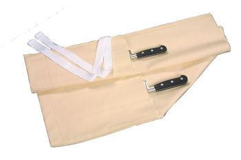 Cream Cotton Knife Roll/ Wallet