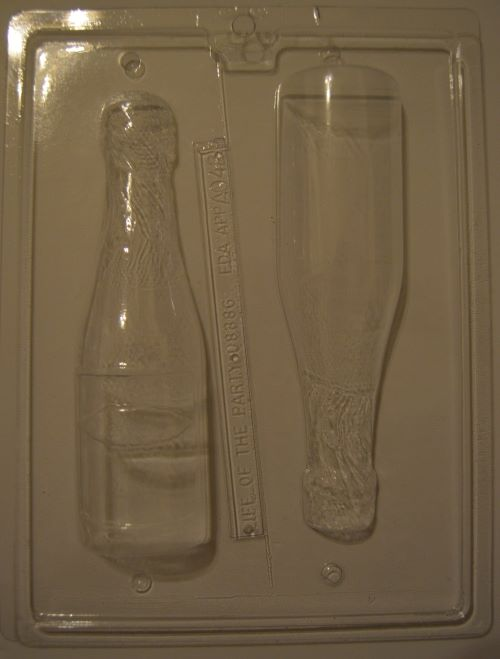 3D Champagne/Wine Bottle Chocolate Mould