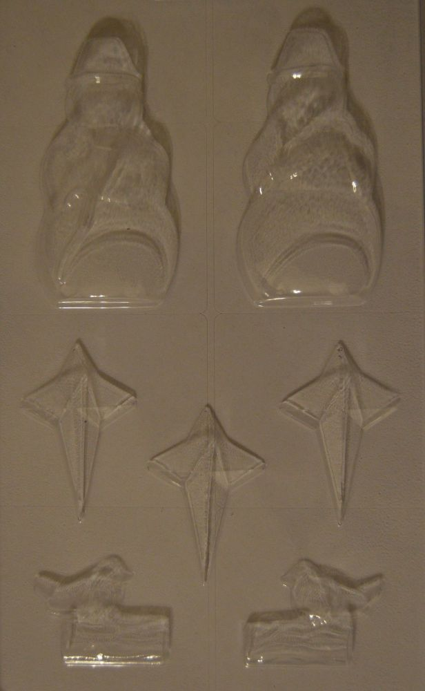 Snowman Chocolate Mould with 3 Stars and a Christmas Robin Mould