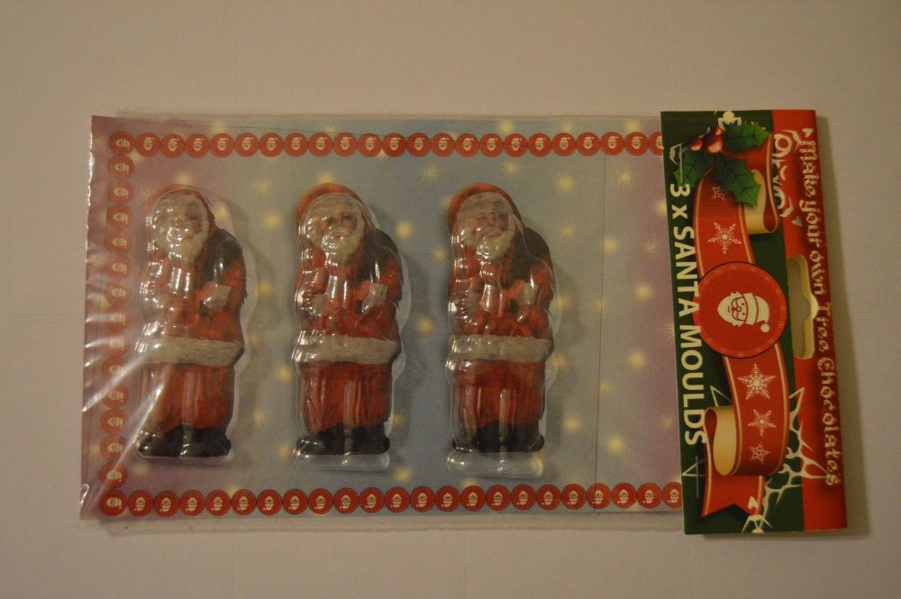 Trio Santa Chocolate Mould