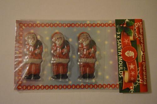 Trio Santa Chocolate Mould
