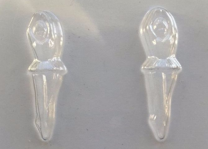 2 Ballerina Dancer Chocolate Moulds