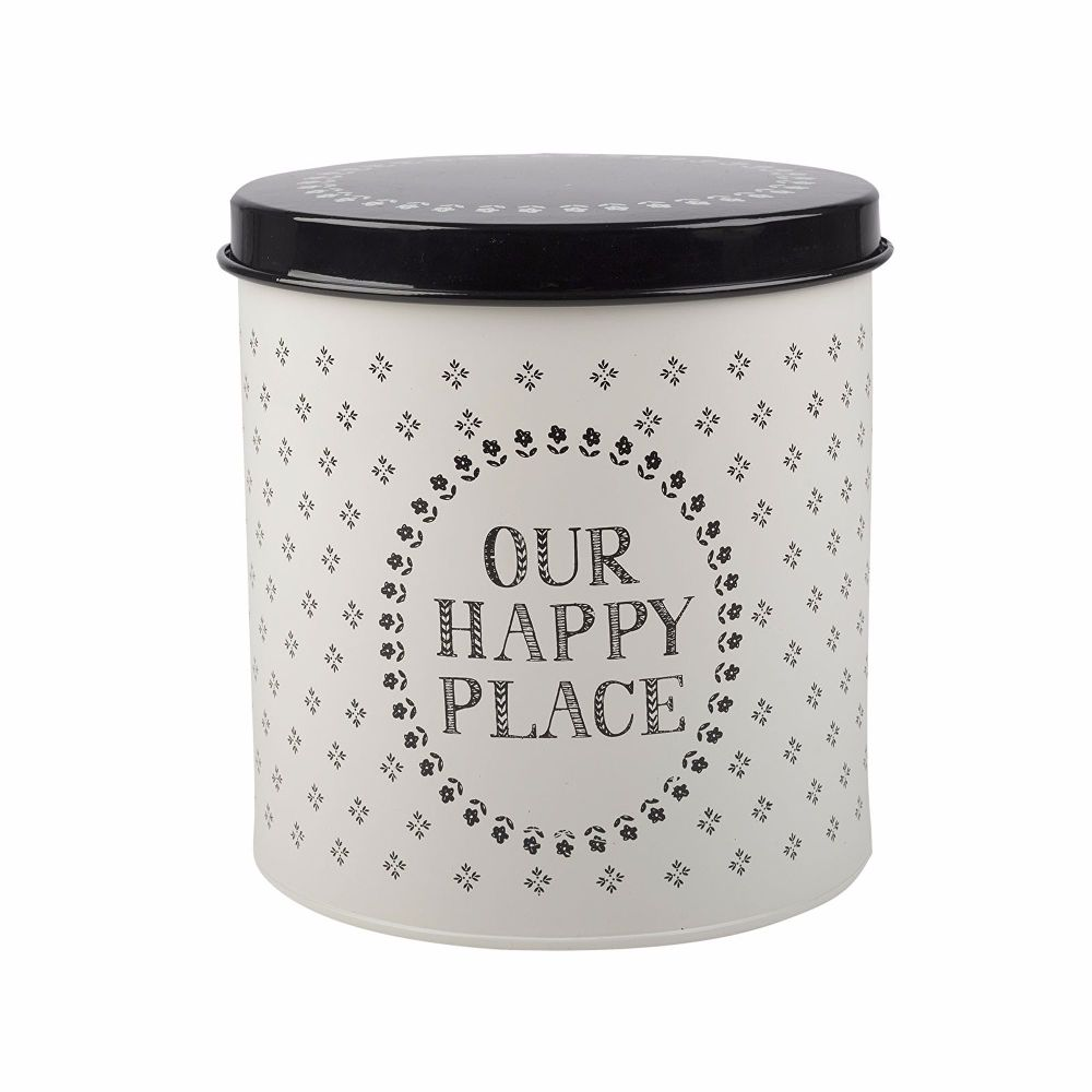 Creative Tops Stir It Up Happy Place Storage Tin White