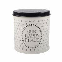 Creative Tops Stir It Up Happy Place Storage Tin White