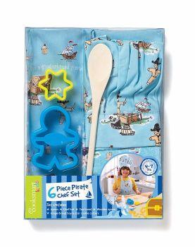Cooksmart Kids 6 Piece Gingerbread Pirate Chef Set