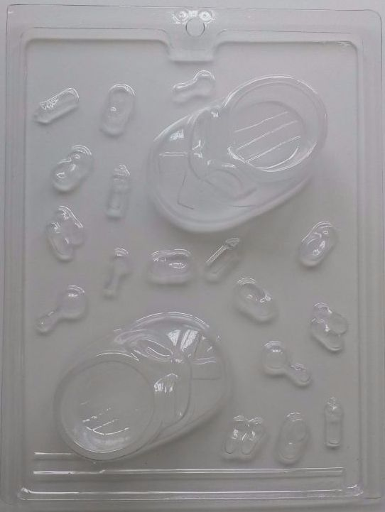 3D Chocolate Baby Boots / Booties Mould