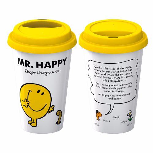 Mr Men Mr Happy Travel Mug