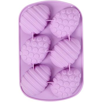 Wilton 6 Cavity Silicone Patterned Easter Egg Moulds