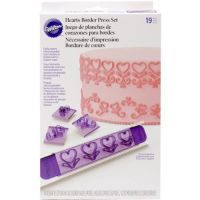 Wilton 19 Piece Hearts Border Press Set