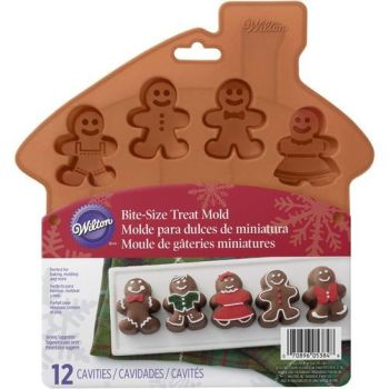 Wilton 12 Cavity Silicone Mini Gingerbread Mould