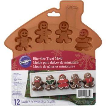 Wilton 12 Cavity Silicone Mini Gingerbread Mould