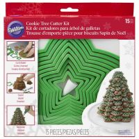 Wilton Cookie Christmas Tree Cutter Set - Set of 15 Cutters