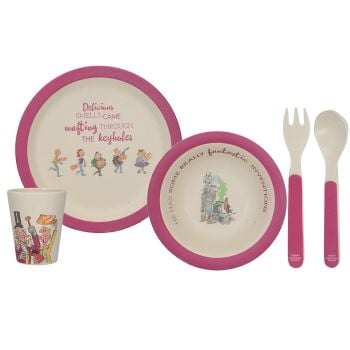 Roald Dahl Charlie And The Chocolate Factory 5Pc Pressed Bamboo Dinner Set