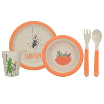 Roald Dahl James And The Giant Peach 5Pc Pressed Bamboo Dinner Set
