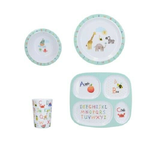 Creative Tops Melamine Kids Alphabet Dinner Set