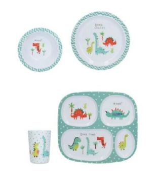 Creative Tops Melamine Kids Hungrysaurus Dinner Set
