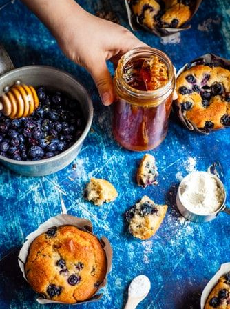 Blueberry and Honey Muffins