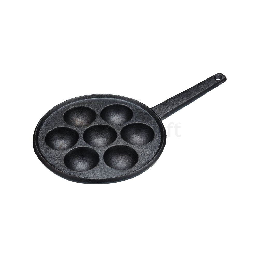 KitchenCraft Æbleskiver Cast Iron Danish Pancake Pan