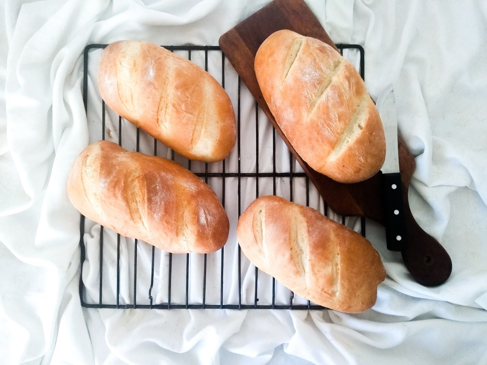 bread on a cooling rack