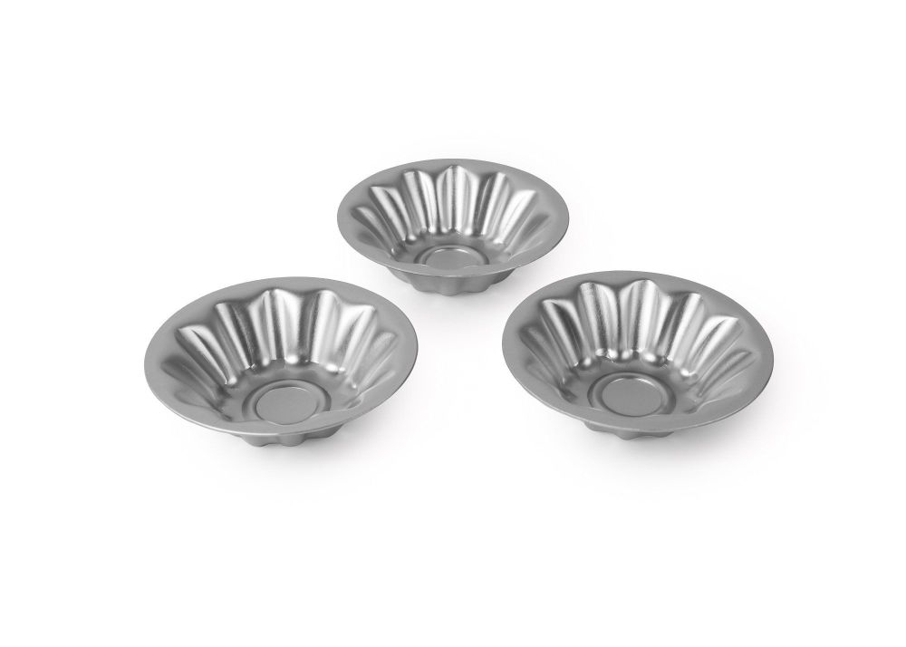 Alan Silverwood Set of 3 Mini Brioche Moulds 3 Inch