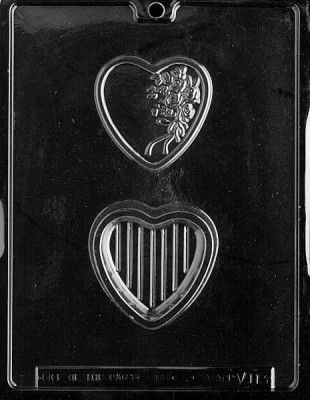 Heart with Bouquet Pour Box Chocolate Mould