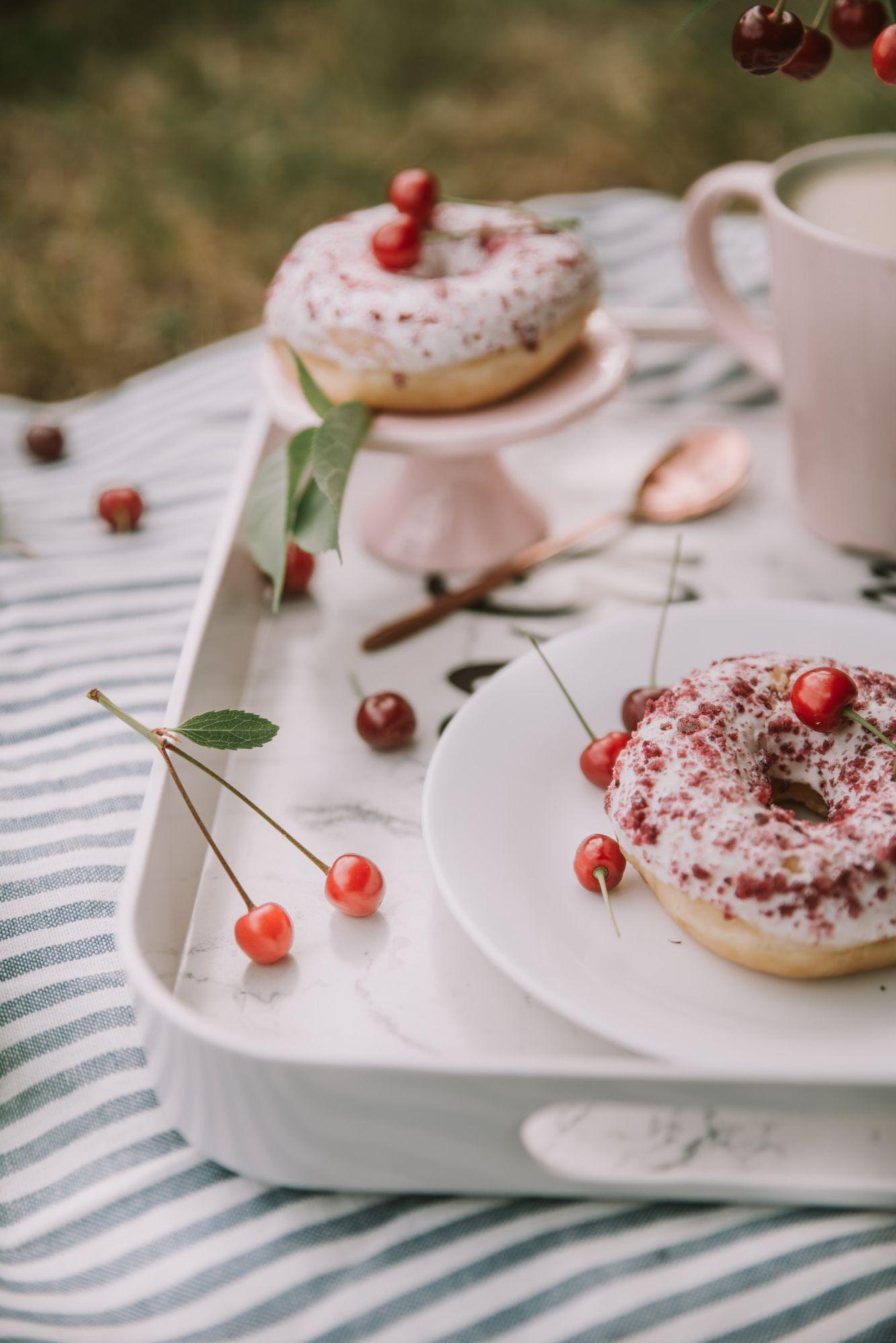 Seasonal fruit doughnuts