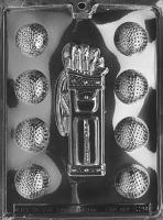 Chocolate Golf Set Mould - Golf Balls and Caddy