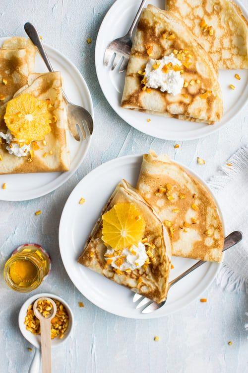 Pancake and Orange slices