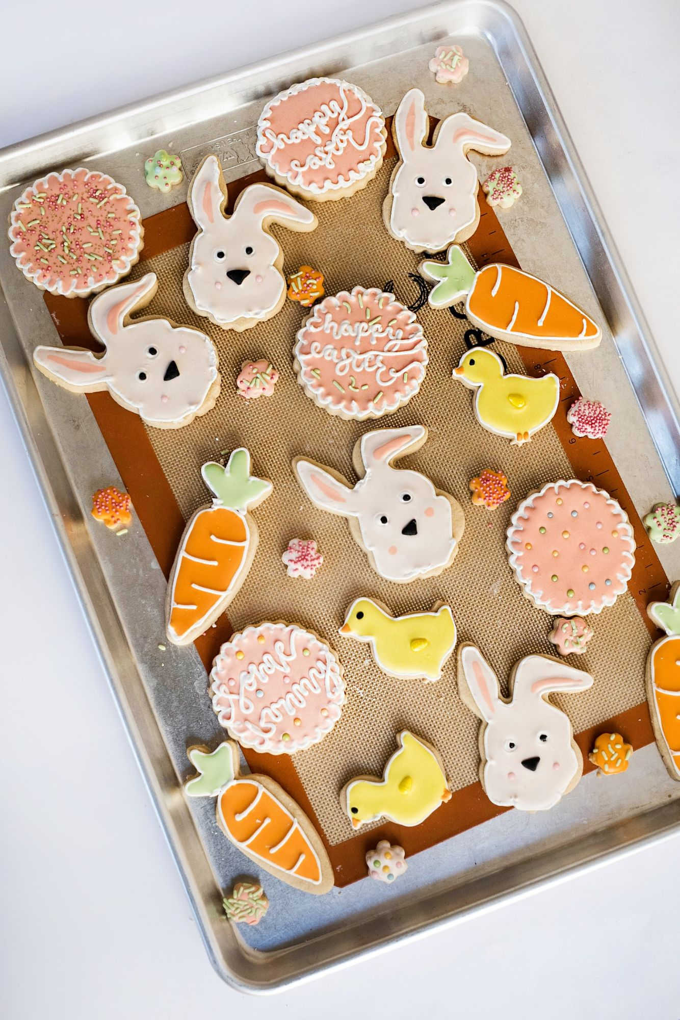 Variety of Easter biscuits