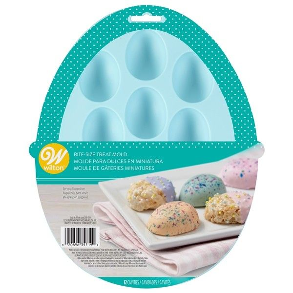 Wilton 12 Cavity Bite Sized Easter Egg Treat Mould